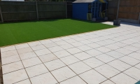 Fiji Artificial Grass and Riven Slabs Caister 2018