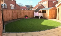 Artificial Grass Back Garden 2018